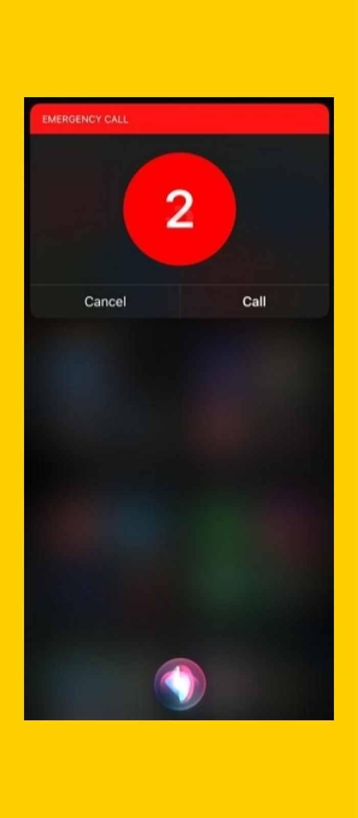 Trying to make an emergency call using Siri