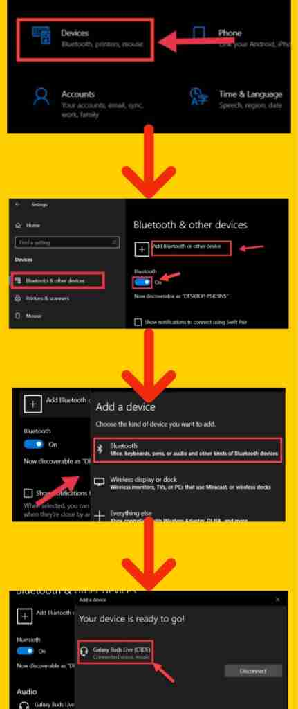 Connect your Galaxy Buds Live to your Windows 10 computer (step-by-step picture guide)