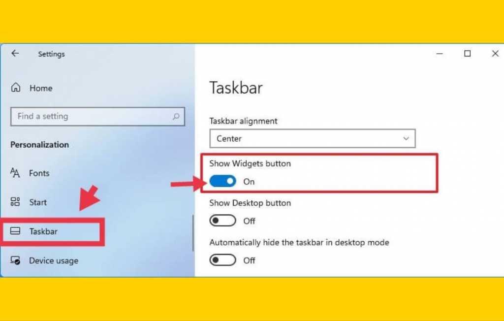 Adding Widgets to Taskbar on Windows 11