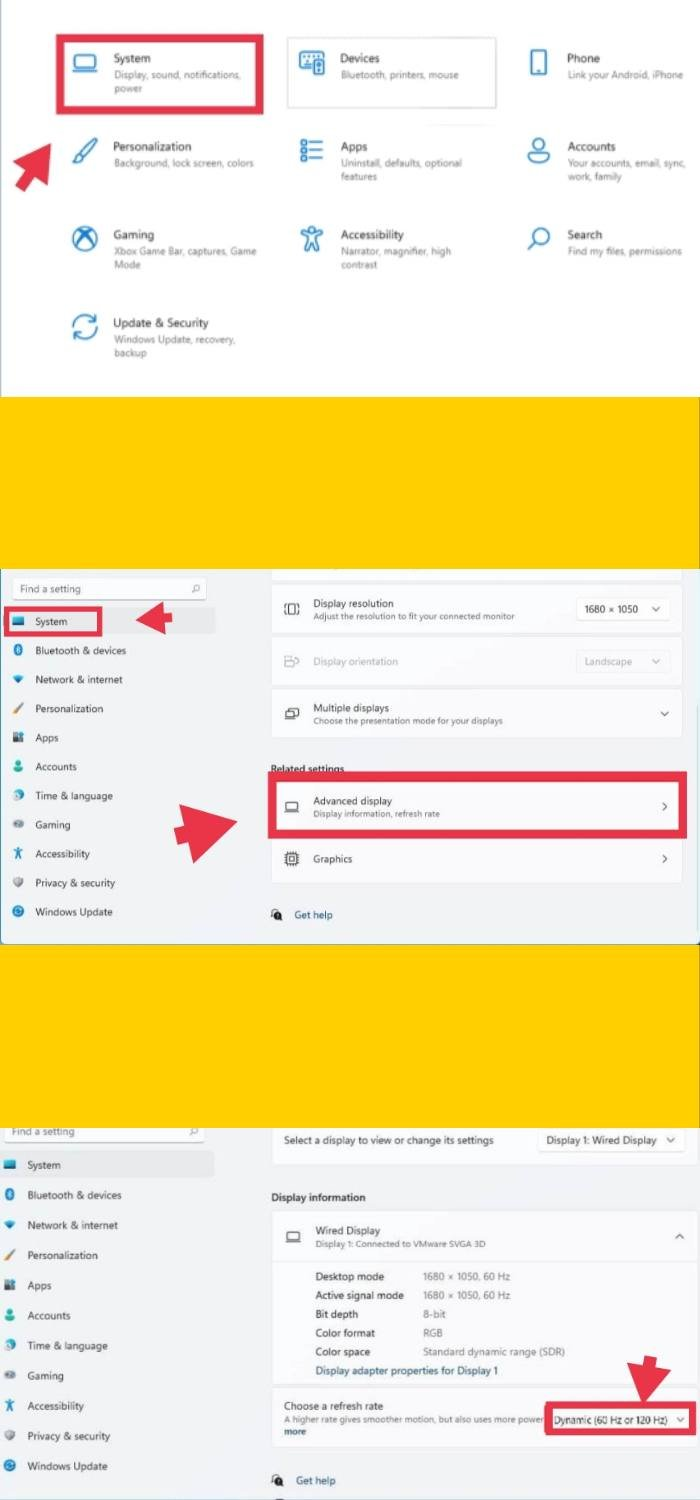 Enable Dynamic Refresh Rate on Windows 11