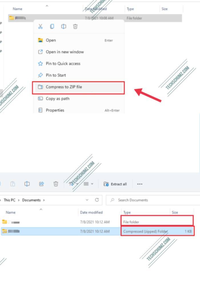 Zip Files on Windows 11 Using Right-click Context Menu