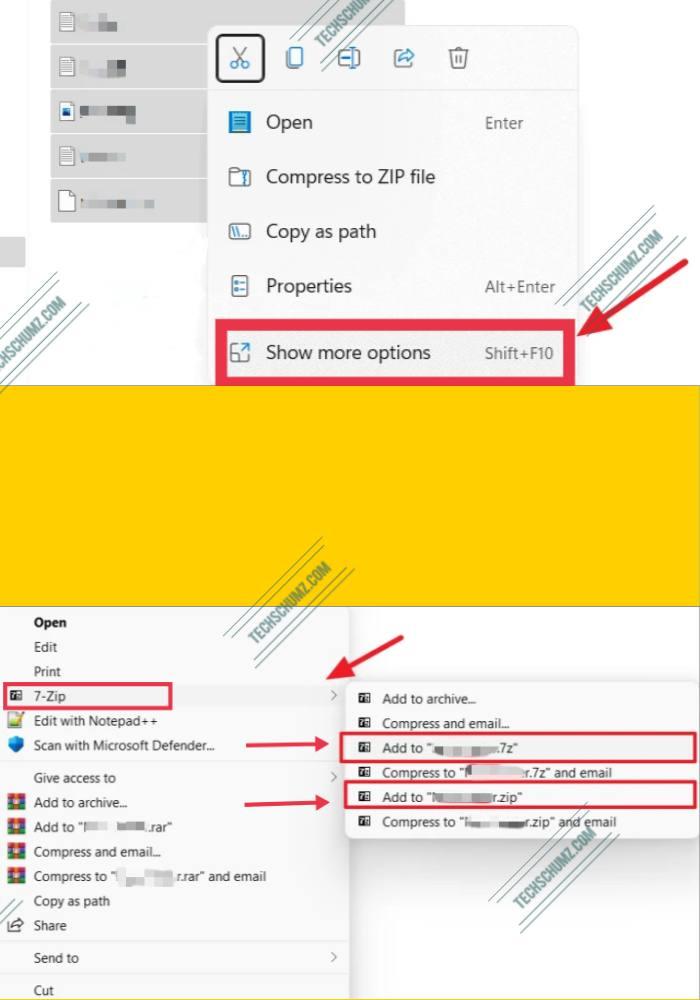 Compress Files on Windows 11 via 7 Zip