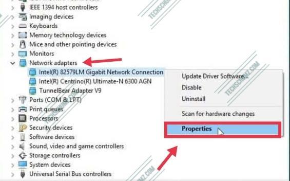 Adapter properties